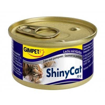 GimPet ShinyCat Zalm met pompoen 70 g