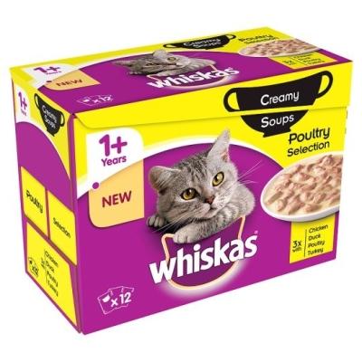 Whiskas 12-Multipack 1+ Gevogelteselectie in Gelei 12x85 g
