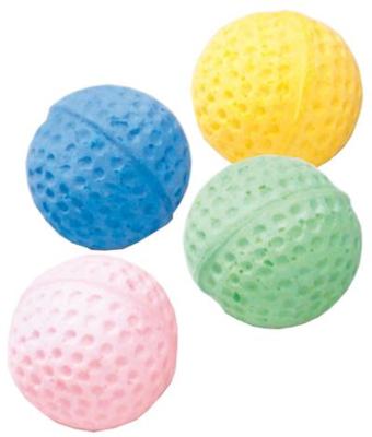 EBI Katzen-Weichgummi Ball 4 Stück 4 cm