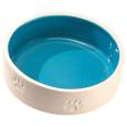 EBI Keramiknapf mit Pfoten L Hellblau vorteilhaft