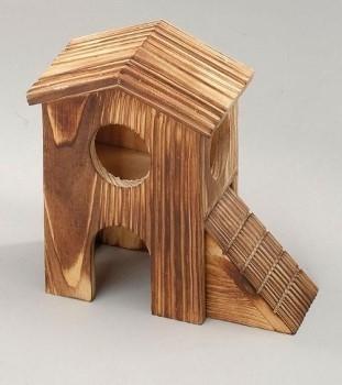 "EBI Holz-Hamsterhaus ""Double"" 15x12.5x8.5 cm"