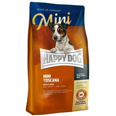 Happy Dog Mini Toscana med Anka & Lax  4 kg, 1 kg, 300 g