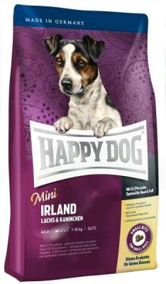 Happy Dog Supreme Mini Irland avec Saumon & Lapin  300 g, 1 kg, 4 kg