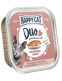 Happy Cat Duo Geflügel & Rind - (Drůbež & Hovězí)  100 g