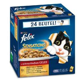Felix Multipack Pouch Sensations with Meat Selection in Jelly  24x100 g