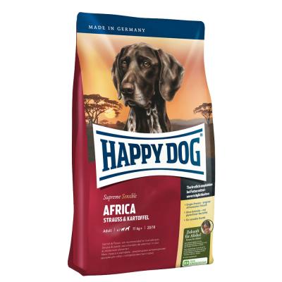 Happy Dog Supreme Sensible Africa kanssa Strutsi ja Peruna  4 kg, 1 kg, 12.5 kg, 300 g, 10 kg