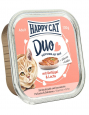 Happy Cat Duo Bouchées en Sauce à la Volaille & Saumon Barquette 100 g Acheter ensemble