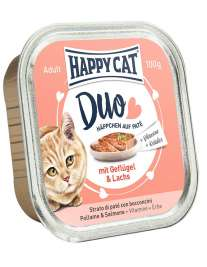 Happy Cat Duo Geflügel & Lachs - (Drůbež & Losos)  100 g