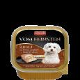 Animonda Vom Feinsten Adult with Beef, Yoghurt & Oatmeal 150 g - Hundfoder för små hundraser, liten hund