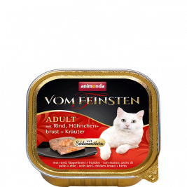 Vom Feinsten Adult with Beef, Chicken Breast + Herbs Animonda 4017721832649