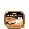 Vom Feinsten Adult with Chicken, Salmon Filet and Spinach  100 g van Animonda