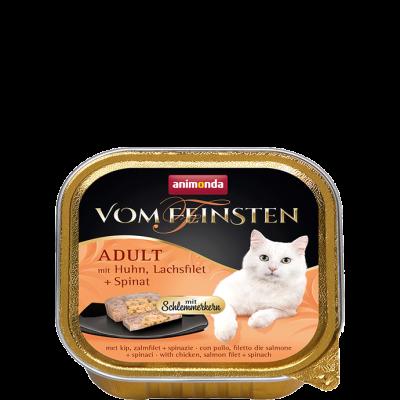 Animonda Vom Feinsten Adult mit Huhn, Lachsfilet & Spinat 100 g