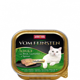 Vom Feinsten Adult with Beef, Salmon Filets & Spinach Animonda 4017721832601