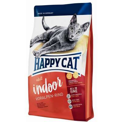 Happy Cat Supreme Indoor Vită din Alpi 10 kg, 4 kg, 1.4 kg, 300 g