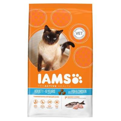 Iams Adult Fish & Chicken 1.5 kg, 10 kg, 3 kg, 300 g, 15 kg