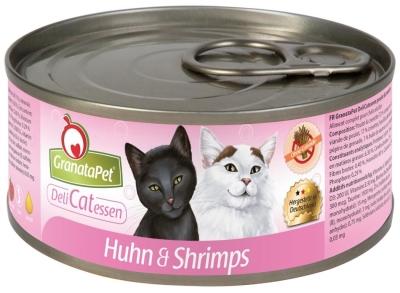 GranataPet DeliCatessen Nassfutter Huhn & Shrimps 6x200 g, 6x100 g, 400 g, 6x400 g