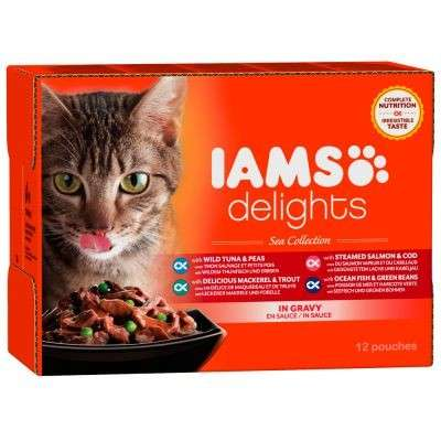 Iams Delights Sea Collection in Gravy 48x85 g, 24x85 g, 12x85 g