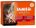 Iams Delights Land Collection in Jelly 12x85 g pas chères