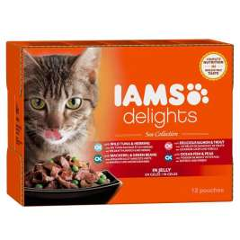 Iams Delights Sea Collection in Gelei  12x85 g