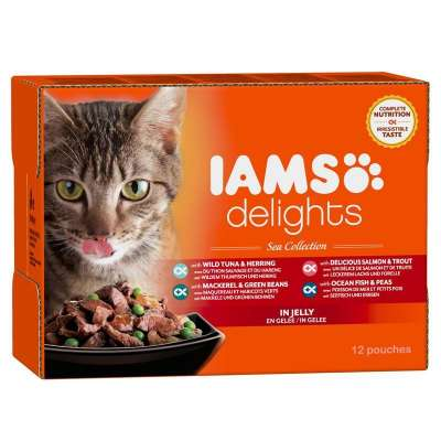 Iams Delights Sea Collection in Gelei 12x85 g, 24x85 g