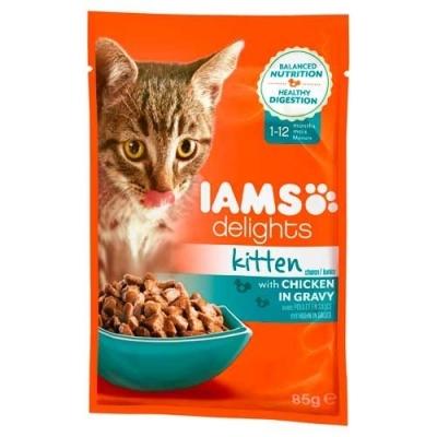 Iams Delights Kitten mit Huhn in Sauce 85 g