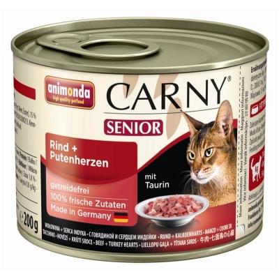 Animonda Carny Senior Kattenvoer Rund & Kalkoenhart 400 g, 200 g