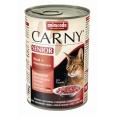 Animonda Carny Senior Beef + Turkey hearts 400 g - Ruokaa varten vanhan kissoille