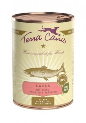 Terra Canis Menu Classic, Saumon avec Millet, Peches & Herbes  12x400 g, 200 g, 800 g, 400 g