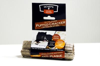 QCHEFS Dental-Power Puffed Cracker Hüttenkäse