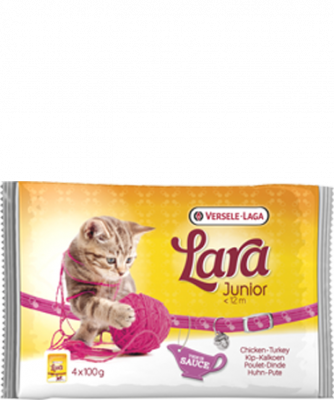 Versele Laga Lara Junior met Kip & Kalkoen 4x100 g