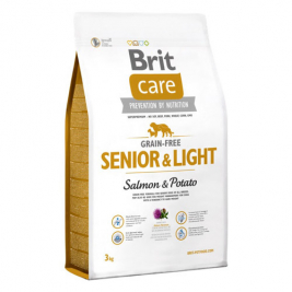 Brit Care Senior Light Grain-free med Lax och Potatis  3 kg