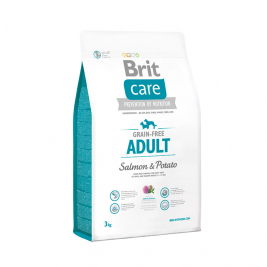 Care Adult Grain-free med Lax och Potatis Brit 8595602510153