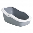 Savic Litter Tray Aseo with High Back Grey
