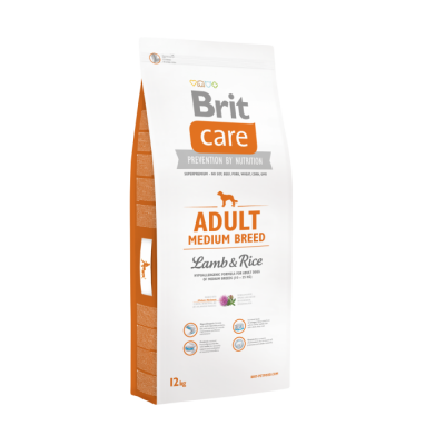 Brit Care Adult Medium Breed med lam og ris  1 kg, 12 kg, 3 kg