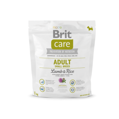 Brit Care Adult Small Breed Lammasta & Riisiä  7.5 kg, 3 kg, 1 kg