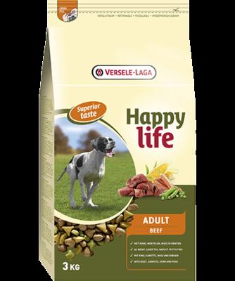 Versele Laga Happy life Adult med Oksekød  15 kg