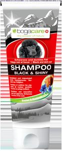 Bogacare Shampoo Black + Shiny Hund 200 ml