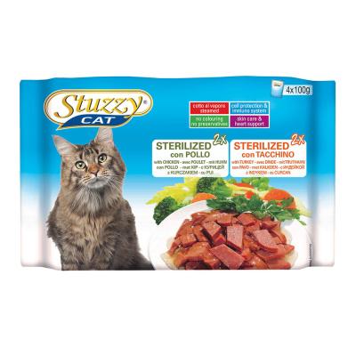 Stuzzy Multipack Sterilized mit Huhn und Truthahn 4x100 g
