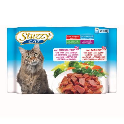 Stuzzy Multipack Met Ham en Rund 4x100 g