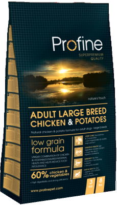 Profine Adult Large Breed Chicken & Potatoes  15 kg