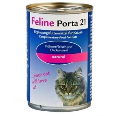 Feline Porta 21 Hühnerfleisch pur in ganzen Stücken 90 g, 400 g, 156 g, 24x156 g