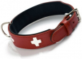 Hunter Halsband Swiss Eco Leer Rood / Zwart