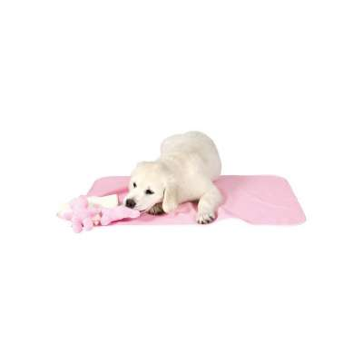 Trixie Manta e toalha para cães Rosa 76x50 cm