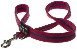 "Oscar & Hooch Leash ""Bold Red""  Bordeaux"