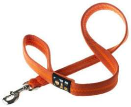 "Oscar & Hooch Leash ""Clementine""  Neon orange"