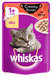Whiskas Creamy Soups with Beef in sauce  85 g