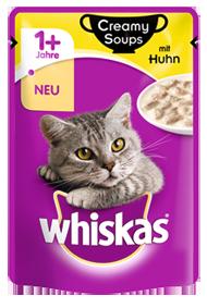 Whiskas 1+ Creamy Soups met kip 85 g