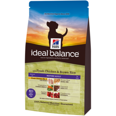 Hill's Ideal Balance Canine - Mature Adult with Chicken and Brown Rice  700 g, 2 kg, 12 kg