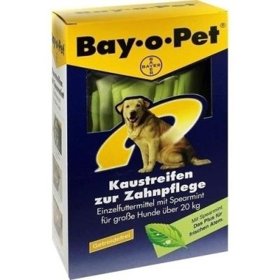 Bay-o-Pet Cuidado Dental Care Chew Tiras de Menta  para Perros Grandes 140 g Carne  & Leche & Algas