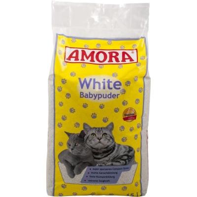 Amora Katzenstreu White Babypuder 15 l